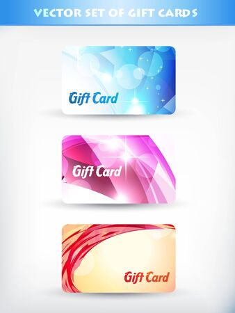 vector set of gift card 02 Vector