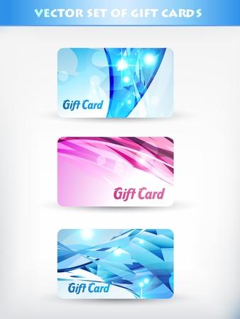 vector set of gift card 10 Vector