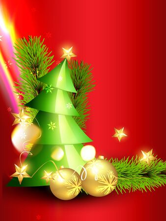 beautiful christmas tree design vector art Stock Vector - 11780752