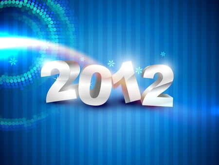 stylish happy new year on blue background Vector