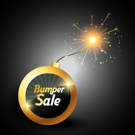 vector blasting bumber sale label sign Vector