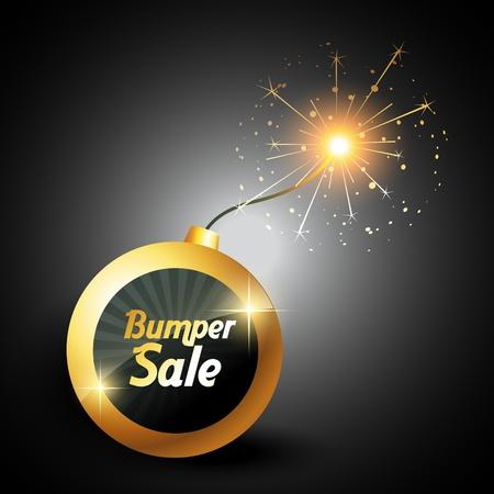 bomb price: vector blasting bumber sale label sign Illustration