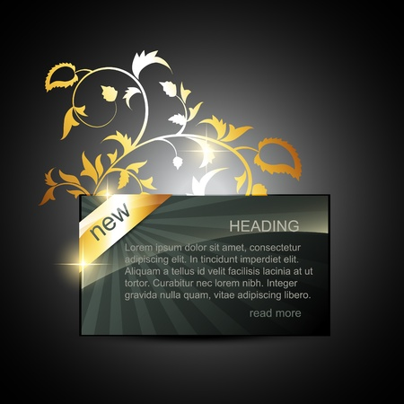 vector golden display box with space for your text Stock Vector - 11877820