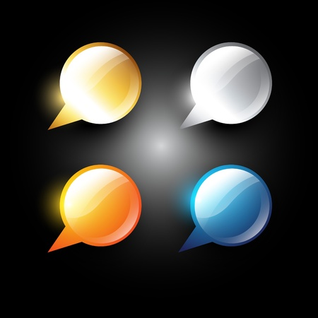 vector set of four chat bubble Vector