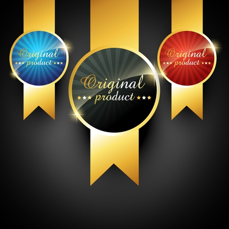 star award: vector quality golden label sign Illustration