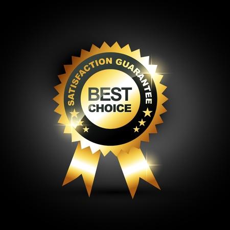 stijlvolle blauwe beste keuze label teken Vector Illustratie