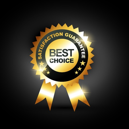 award winning: stylish blue best choice label sign
