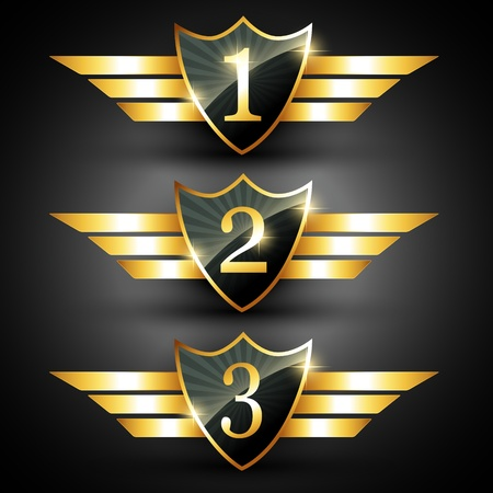 reward: vector shiny golden ranking label