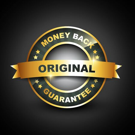 best price: money back guarantee vector golden label