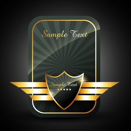 stylish vector golden label sign with space for your text Illustration