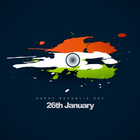 indian flag in artistic design Vector