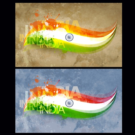 creative style indian flag design Vector