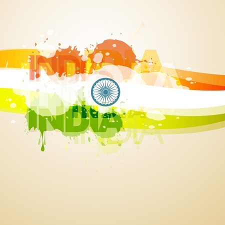 abstract style indian flag illustration Vector