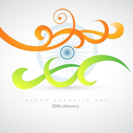 republic day: artistic indian flag design illustration