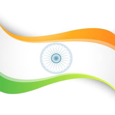 agosto: wave stile indiano flag di design Vettoriali