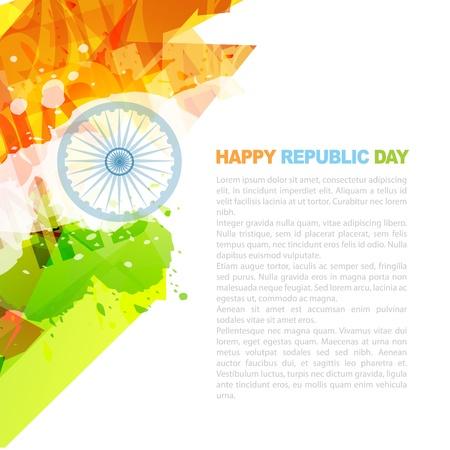 bandera de LA INDIA: diseño de la bandera india, con espacio para el texto