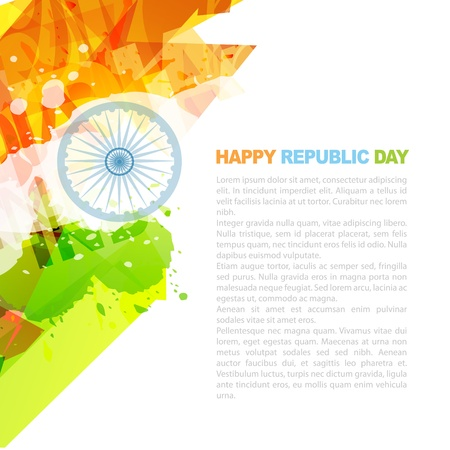 republic day: indian flag design with space for your text Illustration