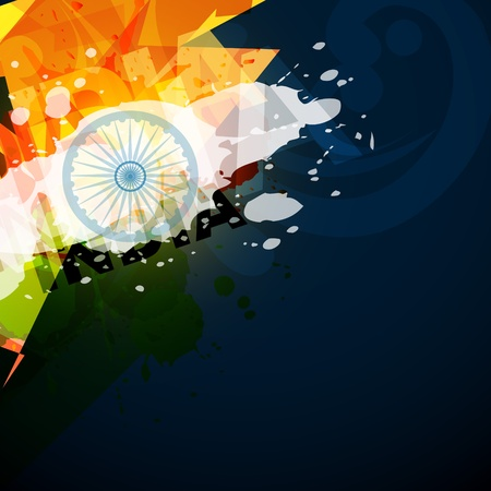 abstract style indian flag with space for your text Vector