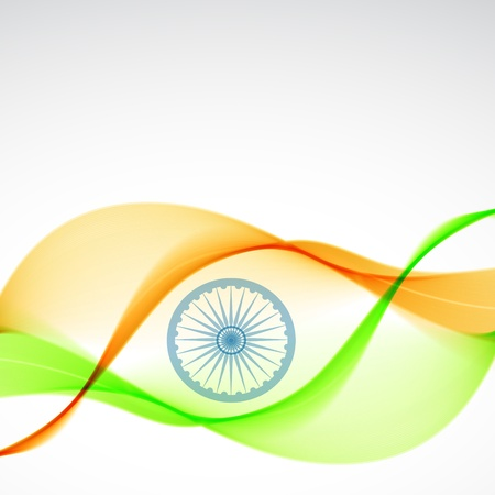 15 august: beautiful elegant indian flag design art