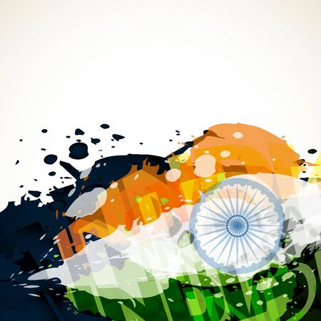 abstract grunge style indian flag design Vector