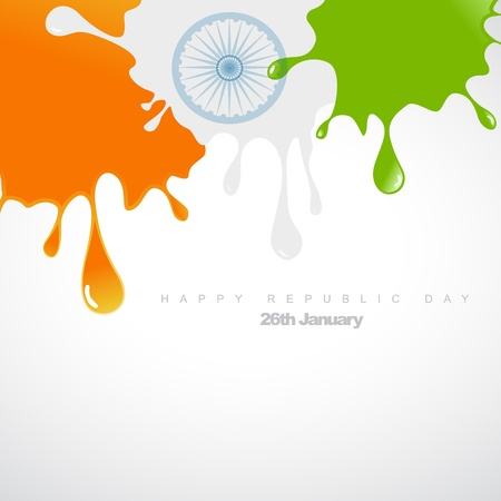 republic day: abstract colorful splash making indian flag