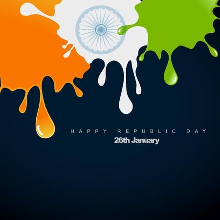 stylish indian flag design illustration Stock Vector - 12041728