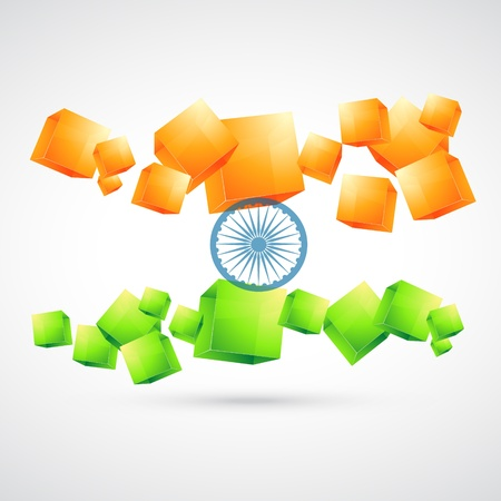 national colors: artistic style indian flag design