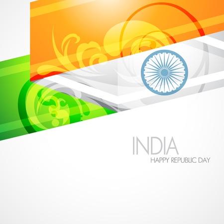 indian tricolor: artistic indian flag design illustration