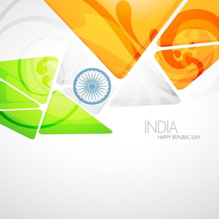 agosto: design creativo bandiera indiana