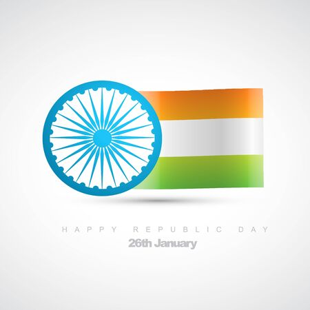 indian flag design illustration Vector