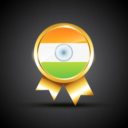 indian flag label illustration Vector