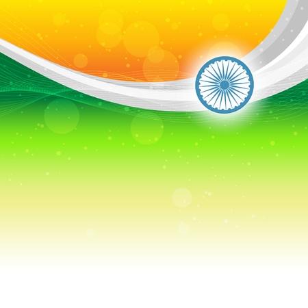 インド: テキストのスペースを持つ美しいインドの旗の背景