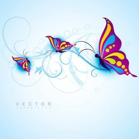 creative butterfly style beautiful design Vector