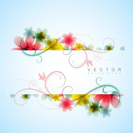élégant fond de fleurs avec un espace pour votre texte