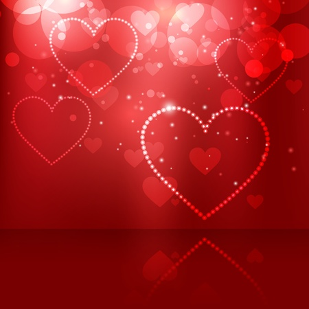 beautiful heart background design Vector