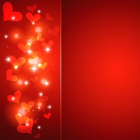 shiny heart background design artwork Vector