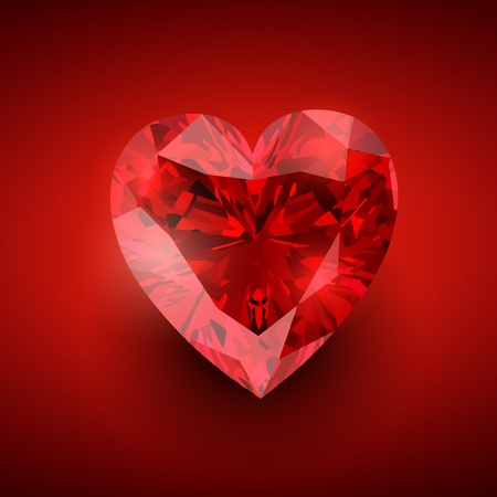 glowing diamond heart illustration Vector