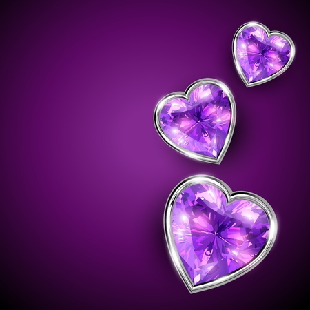 sweet heart: shiny diamond shape heart illustration