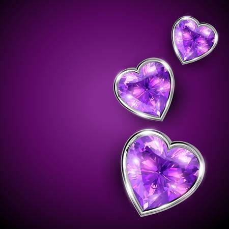 heart diamond: shiny diamond shape heart illustration
