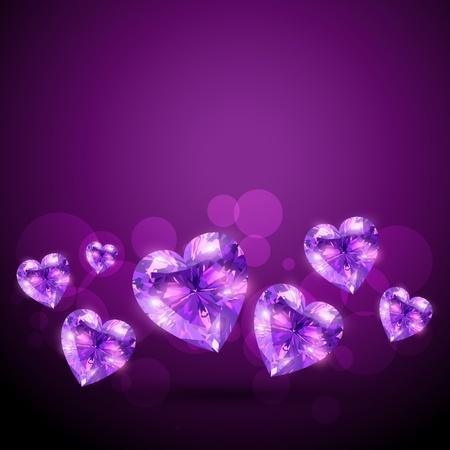 coeur diamant: belle conception brillante c?ur de diamant