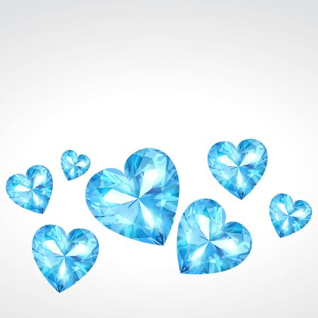 diamond hearts background illustration Vector