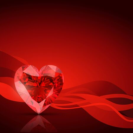 coeur diamant: le logo du diamant en forme de coeur Illustration