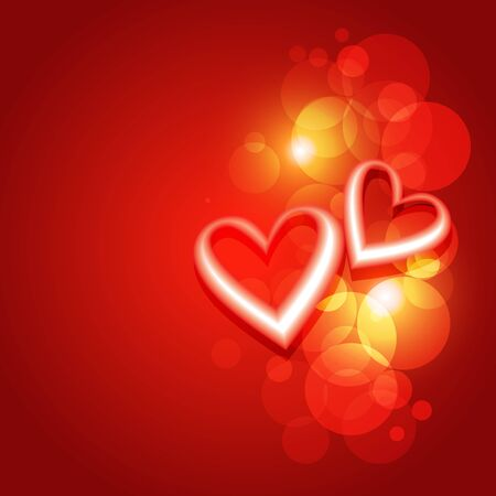 stylize: beautiful valentine day heart background design artwork Illustration