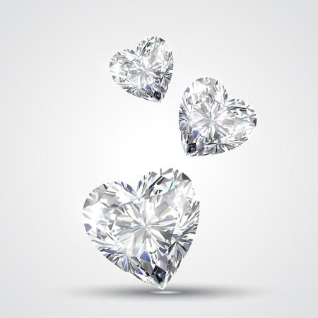 heart diamond: diamond shape heart design illustration