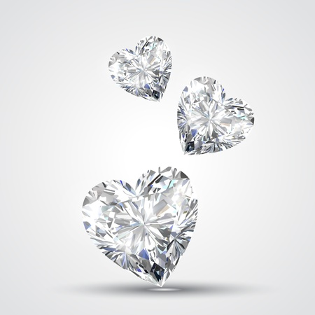 shape heart: diamond shape heart design illustration