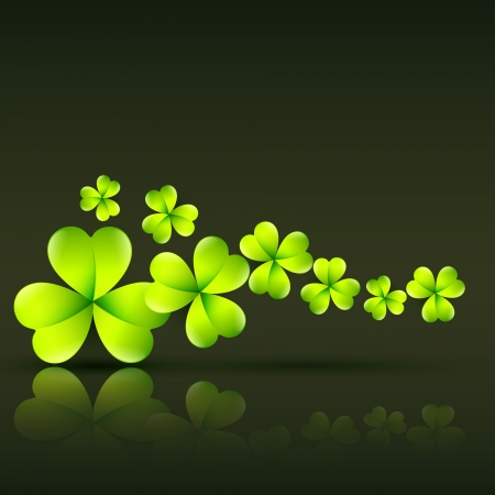 leafed: stylish green st patricks day illustration