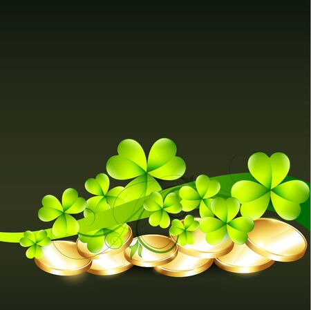 lucky plant: green saint patricks day illustration