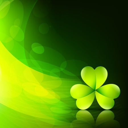 stylish green saint patrick's leaf with space for your text Vector
