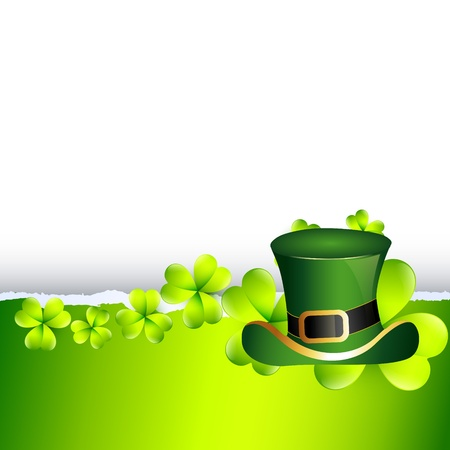 leafed: beautiful st patricks day illustration with hat Illustration