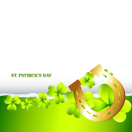 stylish green st patricks day illustration Vector
